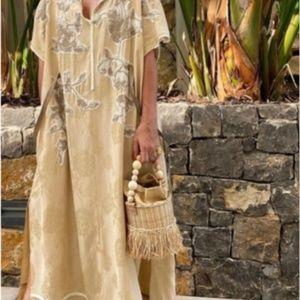 Zara Limited Edition Jacquard Beaded Kaftan